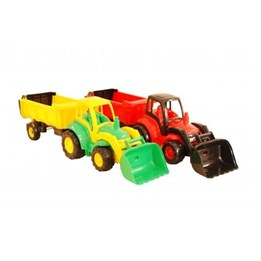 Traktor med vogn 85 cm, Gul