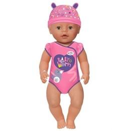 Baby Born - Interaktiv Dokke Jente med brune øyne 43 cm