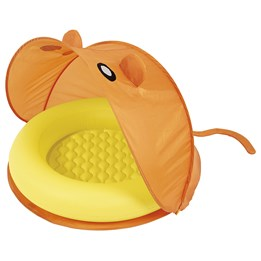 Bestway, UV-beskyttet baby basseng, 97 cm med tak, oransje