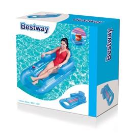 Bestway, Blå badstol med koppholder, 161 cm