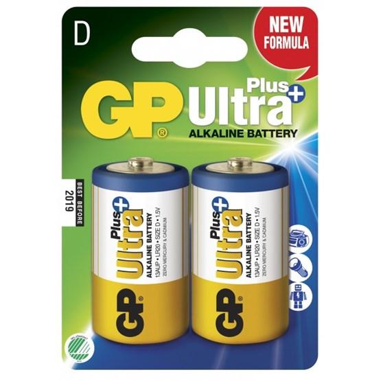 GP, Batteri D Ultra Plus - 2 stk