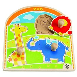 Hape, Zoo Button Puzzle