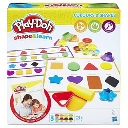 Play Doh, Shape & Learn - Farger & former