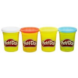 Spill Doh, 4 stk Classic Farger, hvit / rød / gul / lyseblå