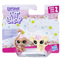 Littlest Pet Shop, Monkey & Elephant 2-pack (E1071)