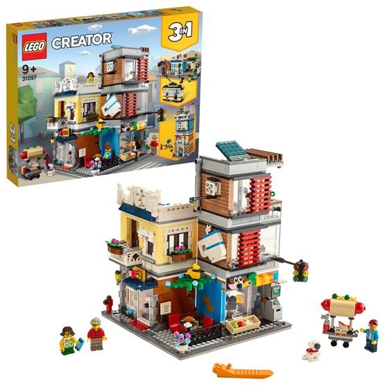 LEGO Creator 31097 - Byhus med dyrebutikk og kafé