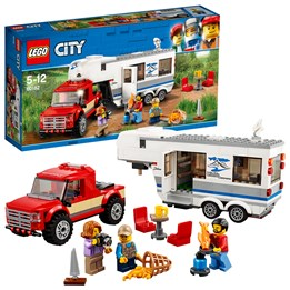 LEGO City Great Vehicles 60182, Pickup med campingvogn