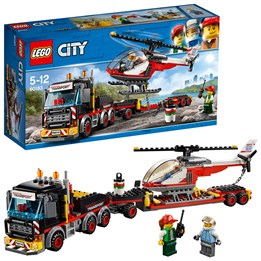 LEGO City Great Vehicles 60183, Trailer med helikopter