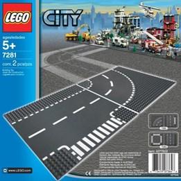 LEGO City 7281, T-Kryss Og Kurve