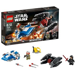 LEGO Star Wars 75196, A-Wing™ mot TIE Silencer™ Microfighters