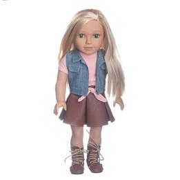 Humble & Heart, Teenie dukke 46 cm med langt blondt hår