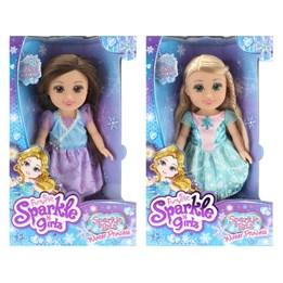 Sparkle Girlz, Prinsessedukke 33 cm - blå/rosa