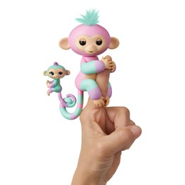 Fingerlings, Colorblock med miniape - grønn / rosa