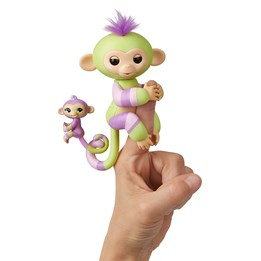 Fingerlings, Colorblock med miniape - lilla / mint