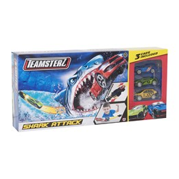 TZ - Shark Attack bane med 3 biler, 30cm