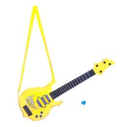 Stage - Elektrisk gitar i plast, gul, 55 cm