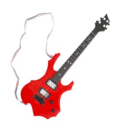 Stage - Elektrisk gitar i plast, rød, 55 cm