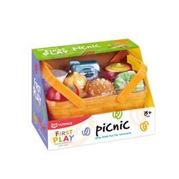 Piknikkurv med mat