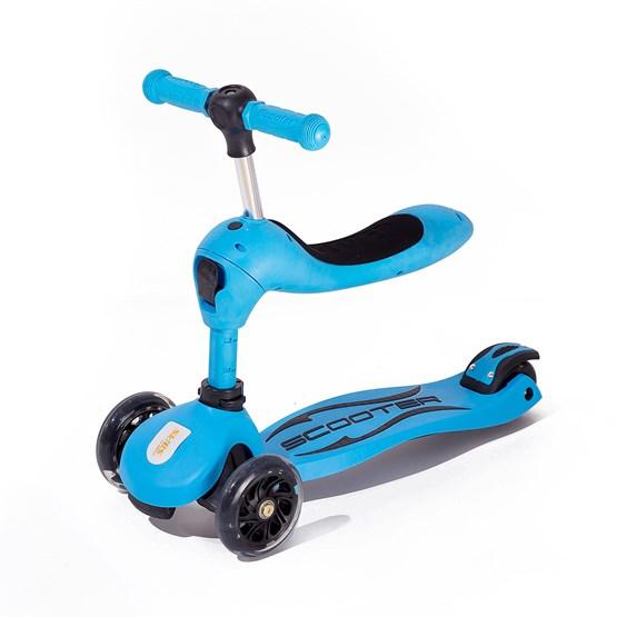 Twix scooter med sete - Blå