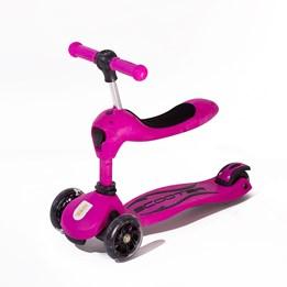 Twix scooter med sete - Rosa