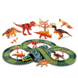 Clixtracks, Dinosaurus bilbane med 157 deler og 1 bil
