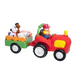 KID - Traktor med henger med dyr W2P