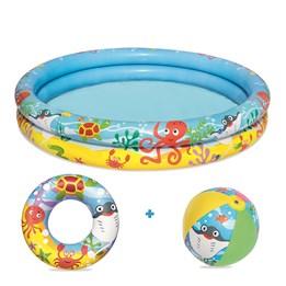 Bestway, Pool 122x20cm med ball/ring 46cm