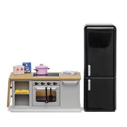 Lundby - Ovn og kjøleskapsett grå