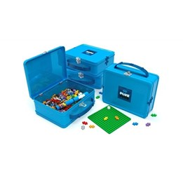 Plus Plus - Oppbevaringseske Metall blå 600-biter