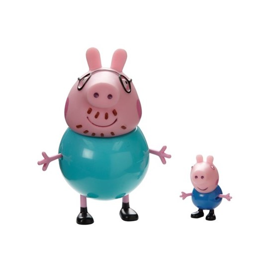 PEPPA Gris, Twin Pack Daddy Pig