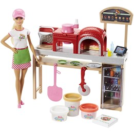Barbie, Pizza Chef Doll & Play Set