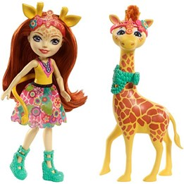Enchantimals, Doll & Animal Story - Gillian Giraffe Dolls