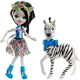 Enchantimals, Doll & Animal Story - Zelena Zebra Dolls
