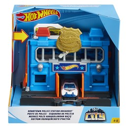 Hot Wheels, Fold Out Playset - Police Station Breakout