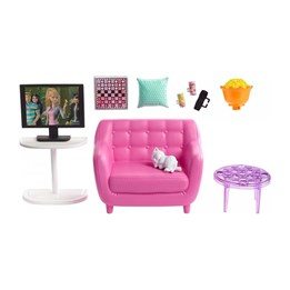 Barbie, Furniture - Indoor Movie Night