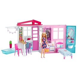Barbie, House and Doll