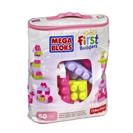Fisher Price, Mega Block 60 stk. Rosa