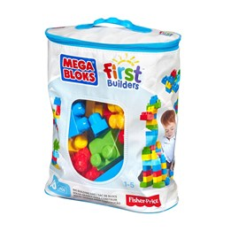 Fisher Price, Mega Block 60 stk. Blå