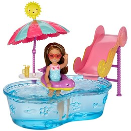 Barbie, Chelsea - Pool & Water Slide
