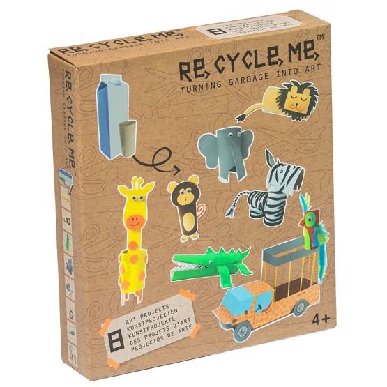 Recycle me, Jungel, 8 stk gjenvinningshobby