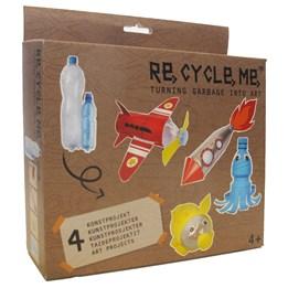 Recycle me, Petflasker 1, 4 stk gjenvinningshobby