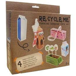 Recycle me, Melkekartong 2, 4 stk gjenvinningshobby