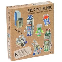 Recycle me, Roboter, 6 stk gjenvinningshobby