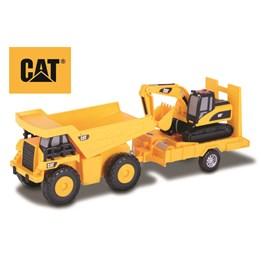CAT, Dumper med sporgravemaskin på tilhenger, 36 cm