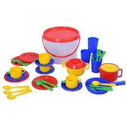 Plasto - Bøtte med kjøkkenleker 39 deler