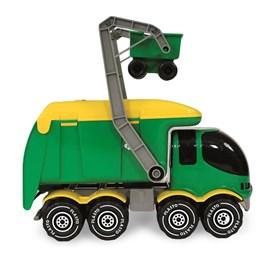 Plasto, Søppelbil med søppelcontainer, 40 cm