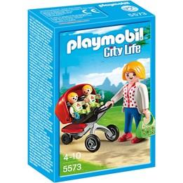 Playmobil City Life 5573, Mor med tvillingvogn