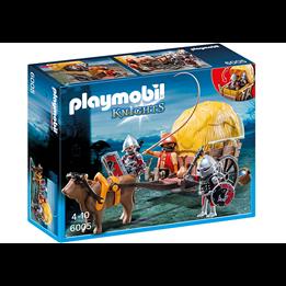 Playmobil Knights 6005, Haukeriddere med kamufl asjevogn