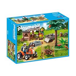 Playmobil, Country - Skogsarbeider med traktor