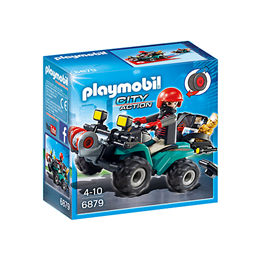 Playmobil City Action 6879, Banditt-firhjuling med bytte